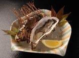 肴 殻付焼き牡蠣