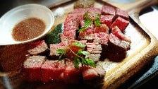 これぞ肉っ!! 牛赤身肉の塊り焼き(200g!!) 肉汁100%のグレイビーソースとマスタードで