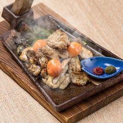 ふもと赤鶏 5種盛り合わせ鉄板焼き
