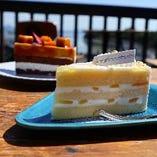 彩り鮮やかなケーキは数量限定でのご提供です