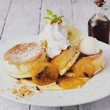 レモンカスタードクリームパンケーキ