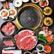 ◆黒毛和牛の希少部位や鮮度抜群の海鮮を味わい尽くす2時間飲み放題付『8,500(税込)焼肉コース』全11品