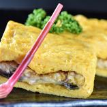 奥久慈卵と国産鰻の調和をご堪能いただける「う巻き」
