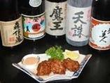 お魚料理を共に味わえる美酒!!焼酎・日本酒も多数ご用意しております。