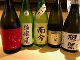 季節限定や希少価値の高い日本酒もご用意。