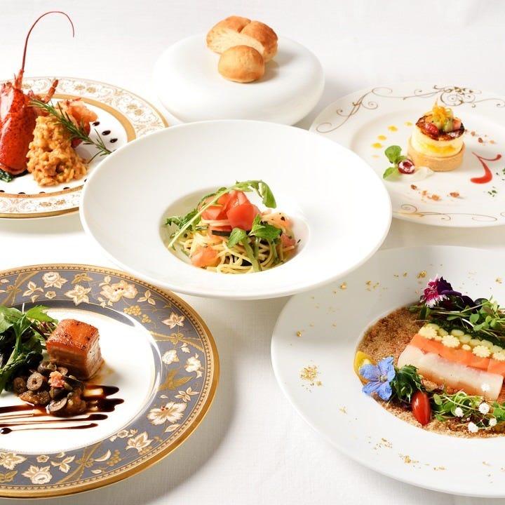 フレンチを堪能できるコース料理は4,200円(税込)からのご提供