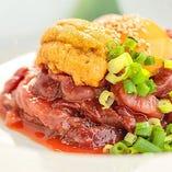 極上肉料理をご用意!雲丹やイクラのリッチな味わいを!