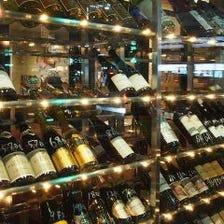 ソムリエ厳選50酒類以上のワイン♪