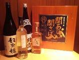 お鮨に合う焼酎・日本酒・ワインも