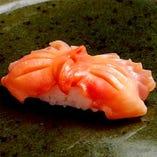 赤貝、穴子(一本付け)、中トロ