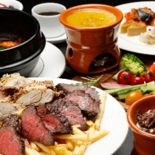 【2時間飲み放題付】乾杯用ワイン1杯付!肉祭り&魚介のトマトパッツァ『ディナーお手軽コース』<全8品>