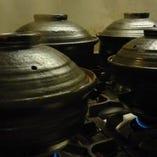 信楽焼の土鍋を使用