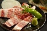 イベリコ豚の直火陶板焼き