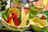 温野菜と京生麩のバーニャカウダ