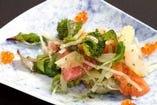 数種の魚と旬野菜のジェノベーゼバルサミコ酢