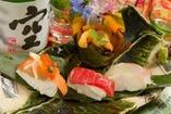 寿司豆腐の盛り合わせ
