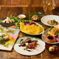 【3時間飲み放題付】「ベトナムフレンチコース」お肉お魚両方愉しめる彩り鮮やか全9品6500円