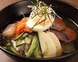 「冷麺」コシのある麺と韓国風さっぱりスープで、のど越し抜群!
