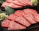 当店の黒毛和牛は全て最高級ランクA5肉を使用しております