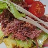 コンビーフと野菜