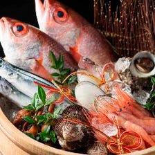 地元の魚を様々な調理法でご提供