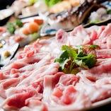 寒くなってきたら鍋!麦ブタの選べる和風、韓国風、ユズ塩鍋!