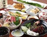 おまかせコース料理 3800円~  (写真の料理は、3800円)