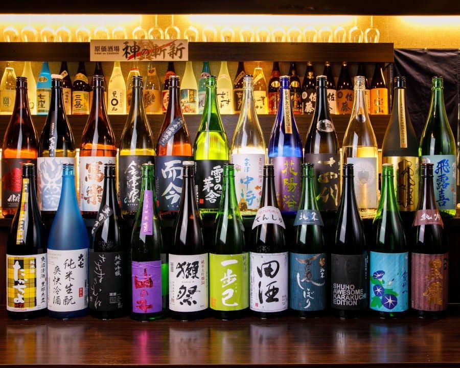 プレミアムコースでは30種の日本酒が飲み放題!