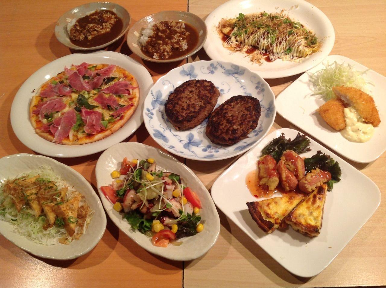 宴会のお料理は人数や男女の割合で変更も致します。