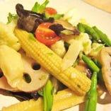 八種野菜の塩炒め