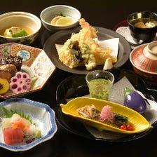天ぷらと焼き魚コース【宝 来 】お料理全7品 ※お食事のみ