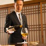 『一期一会』のお料理に合うワインをソムリエがマッチング。