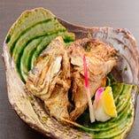 ふらり寿司名物!本日のかぶと焼・かぶと煮