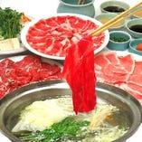 3種肉しゃぶしゃぶ 又は すきやき食べ放題