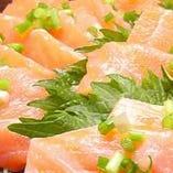 鮭と野菜のカルパッチョ