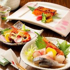 吟味御膳コース(6000円・120分飲み放題付・全8品)接待向きのおすすめコースです。