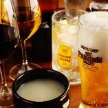 美味しい宮崎牛を味わいながら、種類豊富なお酒をご堪能ください