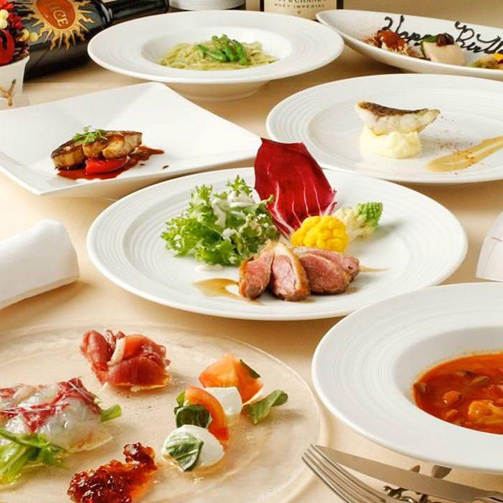 国内外から選び抜いた食材が 愉しめる、Richなイタリアンコース