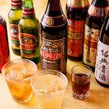 青島ビールに紹興酒、果実酒など中華に合う飲み物が勢揃い!