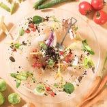 産直野菜を使用した料理