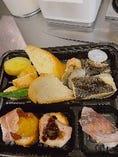 本日の漁港直送お魚弁当~天然魚の握り寿司付き~
