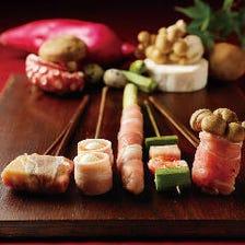 花串庵の伝統の味を残した「串揚げ」を是非