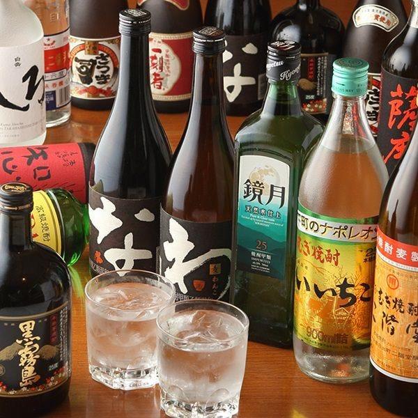 日本酒や焼酎など種類豊富なドリンクとともにお食事をどうぞ