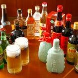 【飲み放題】 ビールやワインなど計55種の豊富なラインナップ