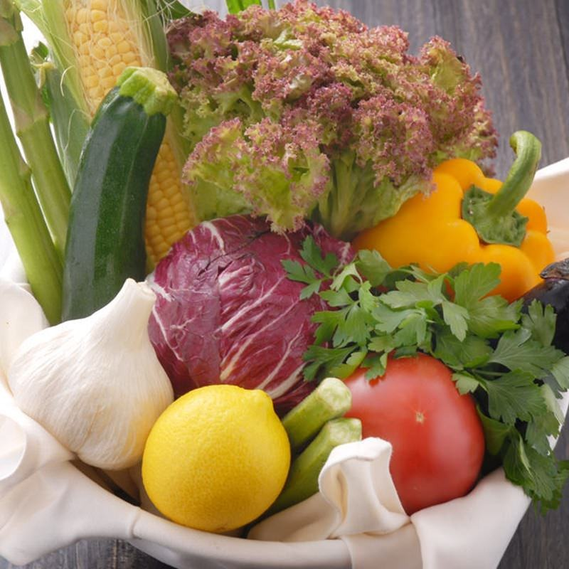 【新鮮な旬野菜】
