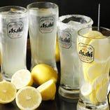 想像を超えたレモンサワーのクオリティをお楽しみください