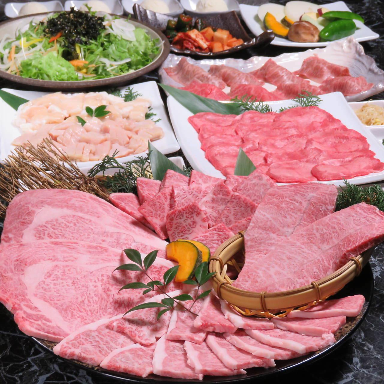 【宴会×飲み会】大人気炙り寿司に特選肉盛りも楽しめる贅沢コース《飲み放題付き》「7,300円コース」