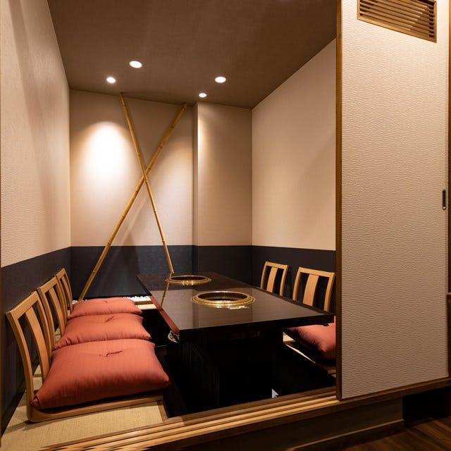 落ち着いた大人の完全個室