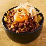 韓国風天ぷら卵かけご飯