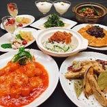 2H飲放付コース5,000円より老舗中国料理店の味をお楽しみ下さい
